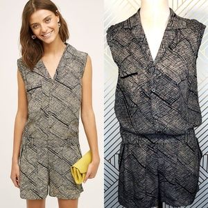 Anthropologie Hei Hei Nova Romper Button Front